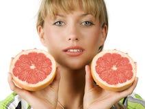 Halve grapefruit royalty-vrije stock afbeeldingen