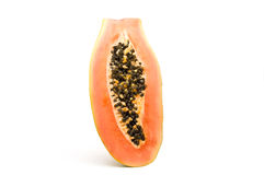 Halve papaja. Royalty-vrije Stock Afbeeldingen