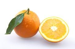 Halve Sinaasappel en Sinaasappel Stock Fotografie