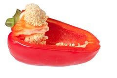 Halve Spaanse peper Stock Foto's
