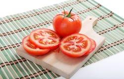 Halve tomaat royalty-vrije stock afbeeldingen