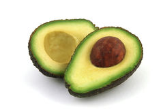 halved авокадо Стоковое Фото