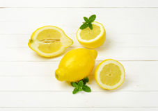 halved лимоны все Стоковое Изображение