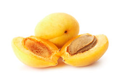 Halved Apricots Royalty Free Stock Images