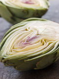 Halved Artichoke Royalty Free Stock Photo