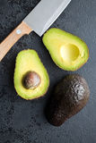 Halved avocado Stock Photos
