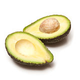 Halved avocado pear Royalty Free Stock Images