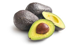 Halved avocado Stock Images
