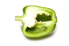 Halved bell pepper Stock Images