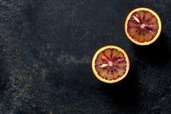 Halved blood orange Royalty Free Stock Image