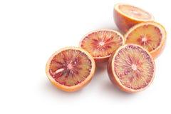 Halved blood oranges Royalty Free Stock Photos