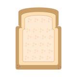 Halved bread bakery breakfast design Stock Photography