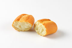 Halved bread roll Royalty Free Stock Photos
