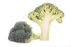 Halved broccoli. Isolated on white background Stock Image