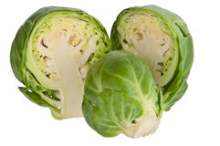 Halved brussels sprout Stock Image