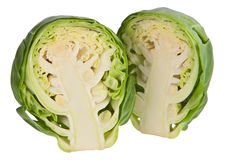 Halved brussels sprout Stock Photo