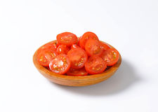 Halved cherry tomatoes Royalty Free Stock Photo