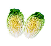Halved chinese cabbages Royalty Free Stock Photography