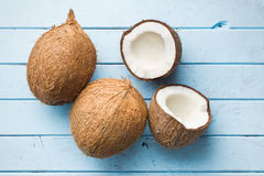 Halved coconut Stock Photography