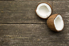 The halved coconut Royalty Free Stock Photo