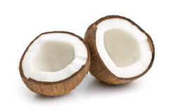 The halved coconut Royalty Free Stock Photos