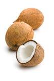 The halved coconut Stock Photo