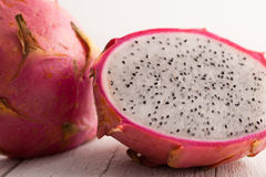 Halved Dragon fruit . Royalty Free Stock Images