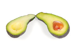 Halved fresh avocado Stock Image