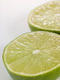 Halved Fresh Lime Stock Photo