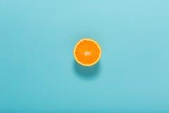 Halved fresh orange Stock Images