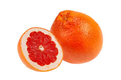 Halved fresh pink grapefruit Stock Image