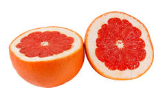 Halved fresh pink grapefruit Royalty Free Stock Photography
