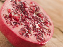 Halved Fresh Pomegranate Royalty Free Stock Photos