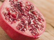 Halved Fresh Pomegranate royalty free stock photos