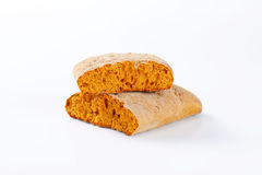 Halved gingerbread biscuit Stock Photo