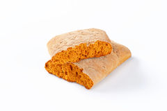 Halved gingerbread biscuit Royalty Free Stock Photo