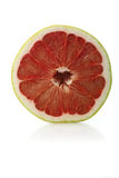 Halved grapefruit on white background Royalty Free Stock Photo