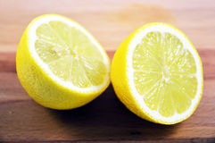 Halved lemon Royalty Free Stock Images
