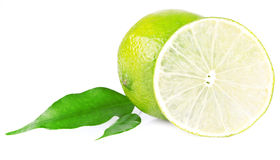 A halved lime Stock Photos