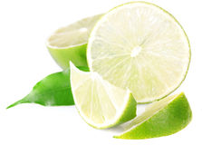 A halved lime Royalty Free Stock Images