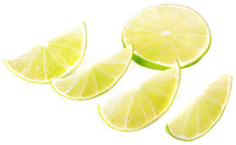 A halved lime Royalty Free Stock Photos