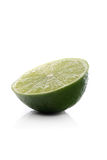 Halved lime on white background Stock Photo