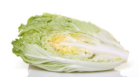 Halved Napa Cabbage Stock Images