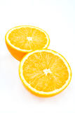 Halved orange Stock Photo