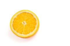 Halved orange isolated Royalty Free Stock Photography