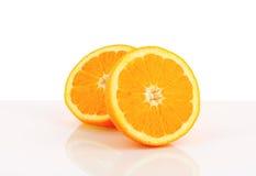 Halved orange Royalty Free Stock Photography