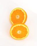 Halved orange Royalty Free Stock Photo