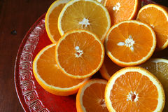 Halved oranges Stock Photo