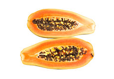 Halved papaya Stock Photography