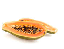 Halved papaya Stock Photos